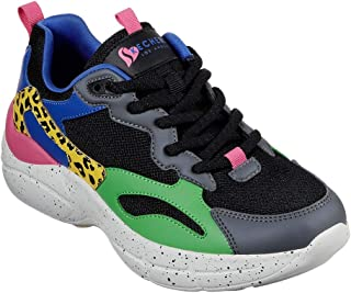 Skechers Women's Primo Wildly Bright Fashion Sneakers Black/Multi