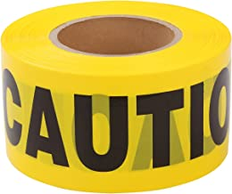 TopSoon CAUTION Tape Roll 3-Inch Wide x 1000-Feet Long Bright Yellow Barrier Tape Construction Tape Halloween Party Tape