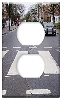 Switch Plate Outlet Cover - Abbey Road Crossing Zebra Europe Landmark Travel