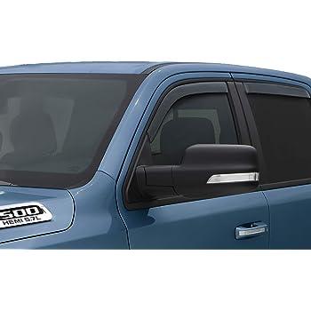 Lightronic WV194813 in-Channel Window Visors Rain Guards Smoke Tint 4PCS Set for Ram 1500 Quad Cab 2019-2020