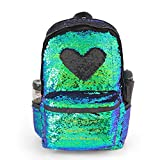 Flip DIY Sequin Backpack for Girls Color Changing Magic Sequence Backpack Glitter School Bags Kids Full Size