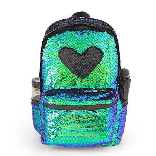Sequin Backpack for Girls Glitter School Backpack for Kids Cute Kindergarten Elementary Bookbag Travel Back Pack