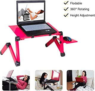 Laptop Stand/Laptop Table/Foldable Laptop Desk, with Mouse Platform, Aluminum Alloy, Used for Office Bed Sofa,Red