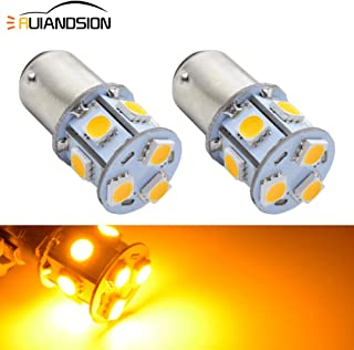 Ruiandsion 2pcs 1157 BAY15D LED Bulbs Yellow Amber 6-30V Super Bright 5050 9SMD LED Bulbs Replacement for Turn Signal Lights