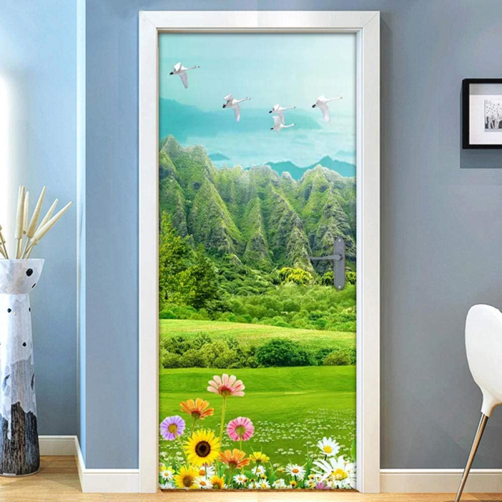 3D Door Stickers Murals Ryutp Outlet ☆ Topics on TV Free Shipping Vinyl Decal Self-Adhesive DIY