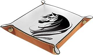 Vockgeng Cheval Simple Boîte de Rangement Panier Organisateur de Bureau Plateau décoratif approprié pour Bureau à Domicile...