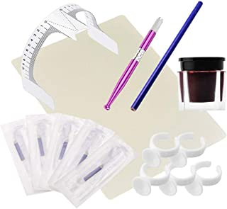 Handleiding Blade1 Fles Pigment Praktische Permanente Make-up Microblading Wenkbrauw Tattoo Kit Pen Naald Plakken Huid Lin...
