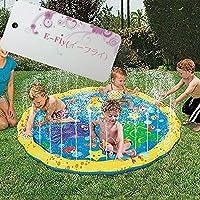 プレイマット ウォーター プレイ アウトドア 芝生遊び 水 夏の日 子供用 おもちゃ 噴水マット ふんすい 庭 家庭用 キッズ 水遊び 噴水池 噴水できる E-Fly