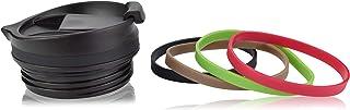 Milu ersättningslock för termomugg 210ml FlipFlop - reservdel - färg svart inkl. Tätning och 4x gummihylsa - BPA-fri