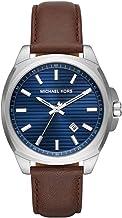 Michael Kors Men's Bryson Three-Hand Date Silver-Tone Stainless Steel Watch MK8631