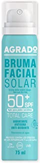 Bruma Seca Solar Facial Protector Solar Hidratante 50+ SPF Protección UVA UVB Infrarrojos en Spray Resistente al agua Invi...