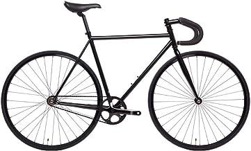دراجة الدولة 4130 فولاذ - أسود غير لامع | فولاذ كروم مزدوج - ترس ثابت/ سرعة واحدة | قضيب إسقاط 49 سم