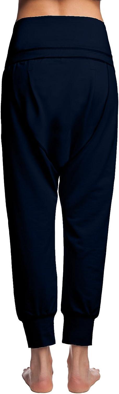 Alinamalina Women's Dropped Credch Yoga Cotton Pants