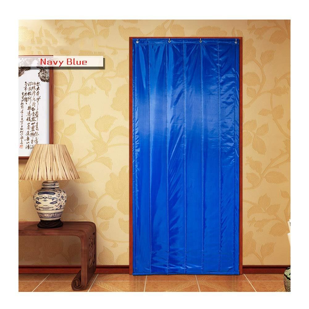 Cortina de Puerta Invierno Impermeable Aislamiento Acústico Mantener Caliente Azul Cortina De Partición Instalación De Gancho, 3 Estilos (Color : A, Size : 100x220cm): Amazon.es: Hogar