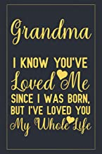 Grandma I know you've loved me since I was born, but I've loved you my whole life: Notebook to Write in for Mother's Day, mothers day gifts for ... grandma notebook, mother's day gifts for nana