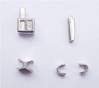 2 sets silver #3 metal zipper head box zipper Pull Replacements zipper sliders retainer insertion pin easy for zipper repair kit(#3)