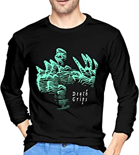 Men Death Grips Fashionable Music Band Teens Long Sleeves T Shirts