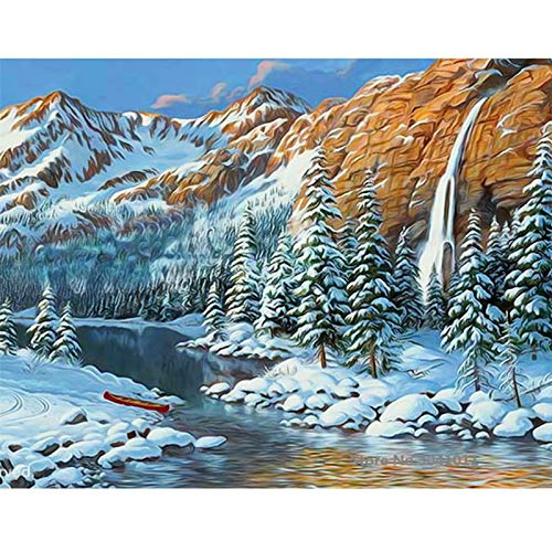 Baodanla No Frame Snow King Oil van Digital Canvas voor bruiloftsdecoratie Home Decor0