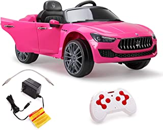 JAXPETY 12V Kids Ride On Car MP3 Battery Powered Remote Control Pink