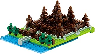 Nano Block 58514364–Angkor Wat, 3D Puzzle, Sights to See, Difficulty Level 2, Medium, 370Pieces