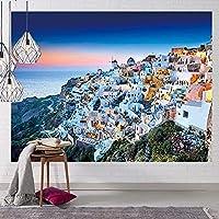 北欧風景タペストリー、リビングルームの寝室創造的な背景壁の装飾壁掛けタペストリーQ 150x130cm(59x51INCH)