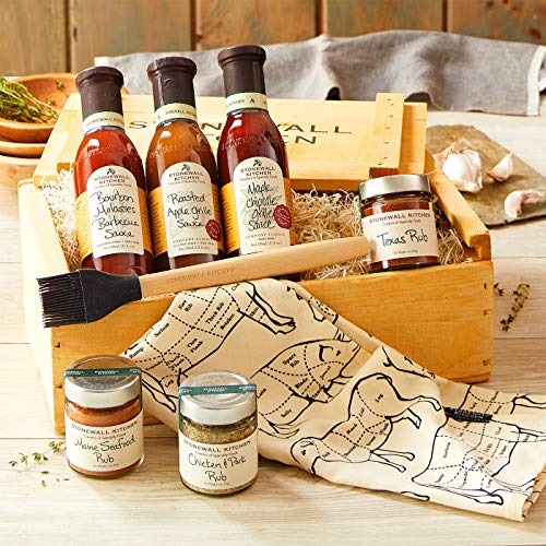 Stonewall Kitchen Grilling Favorites Gift Crate - 8 Piece Gift