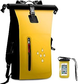 SCHITEC - Mochila Impermeable para secar, 25 L, Resistente al Agua, con Cierre Enrollable, con IPX8, Resistente al Agua, para navegar, Playa, Kayak, esquí, Pesca, Camping, natación