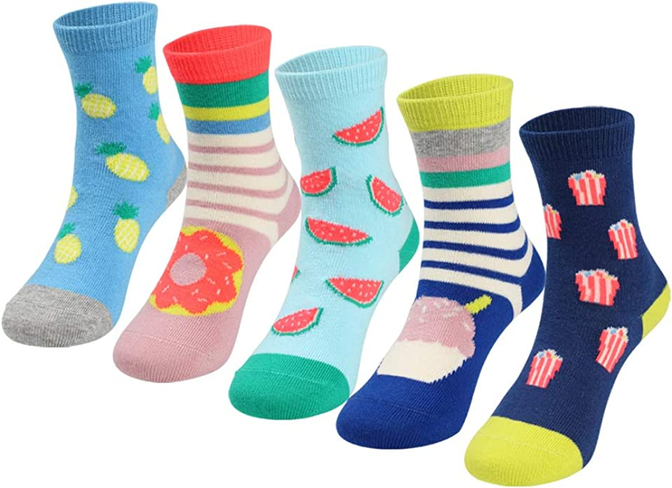 Bright Color Cotton Rich Socks for Kids Girls
