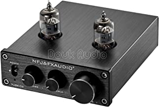 Nobsound Mini 6J1 Vacuum Tube Preamplifier Hi-Fi Stereo PreAmp Treble & Bass & Volume Control (Black)