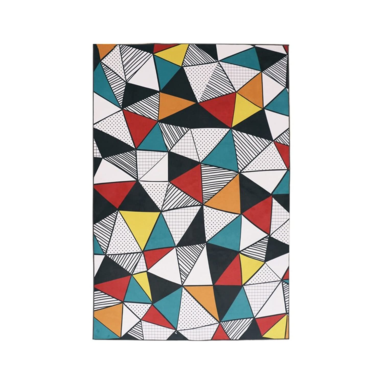 Area Rugs Rectangular Rug/Multi-Functional Bedroom Rug/Study Coffee Table Rug Colorful Geometric