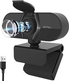 Webcam con micrófono, Salandens cámara web HD 1080p, cáma