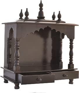 Jodhpur Handicrafts Home Temple Wooden Temple Pooja Mandir Pooja Temple with Led Bulb