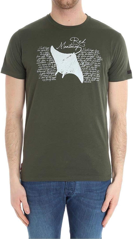 RRD Men's 1812621 Green Cotton TShirt