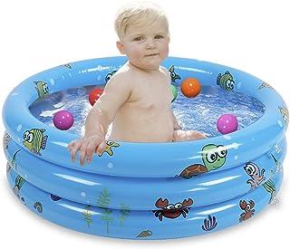 JYCRA Piscina inflable para niños, duradera, para baño, plegable, para niños, tamaño 80 cm (azul)