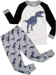 2 Unids NiñIto Niños Bebé Chico NiñA Pijamas Dibujos Animados Imprimir Tops Pantalones Conjuntos Trajes