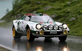 絵画風 壁紙ポスター (はがせるシール式) ランチア ストラトス HF Gr.4 1971年 世界ラリー選手権カー WRC キャラクロ LCST-002W1 (ワイド版 921mm×576mm) 建築用壁紙+耐候性塗料