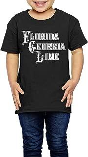 UrsulaA Children's Florida Georgia Line Cute T Shirt for Girls/Boys T Shirts Black
