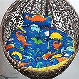 Cuscino Rotondo per Poltrona Sospesa Singola Cuscino per Cestello Sospeso in Tessuto in Cotone Perlato Delicato 120X120cm