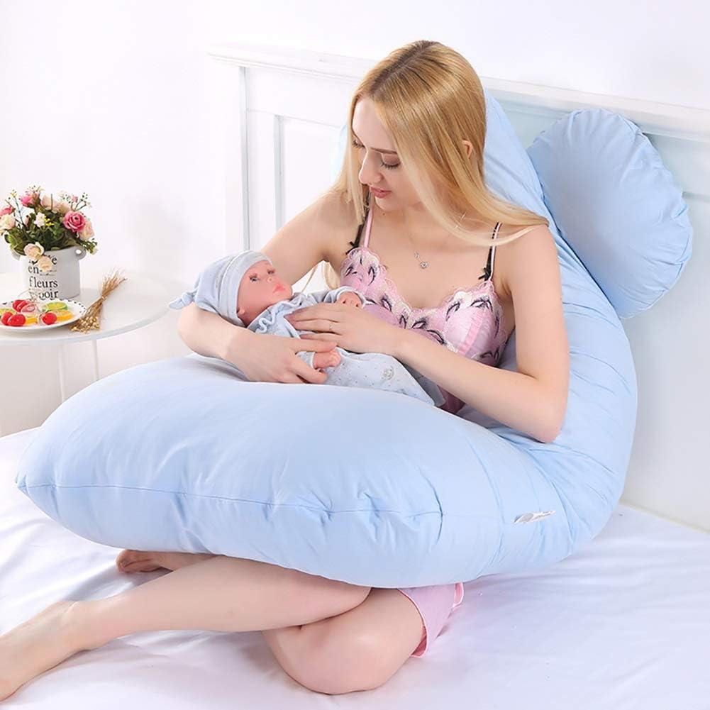 Color : White BnSdmmYFZ Oreillers de grossesse pour dormir Multifonctionnel Femmes Enceintes Oreiller C/ôt/é Coton Dormeur Coton Coussin Amovible Et Lavable De Type Sieste