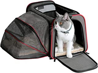 "Petsfit 18""x11""x11"" Expandable Foldable Washable Travel Carrier, Not All Airline-Approved Pet Carrier Soft-Sided"