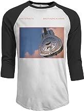 Men's Dire Straits Brothers in Arms 3/4 Sleeve Raglan Baseball T-Shirts Black