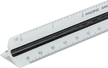 """Pacific Arc Engineering Scale Ruler, 6"""" Scale Ruler for Architectural Designs, Engineering, or Drafting"""