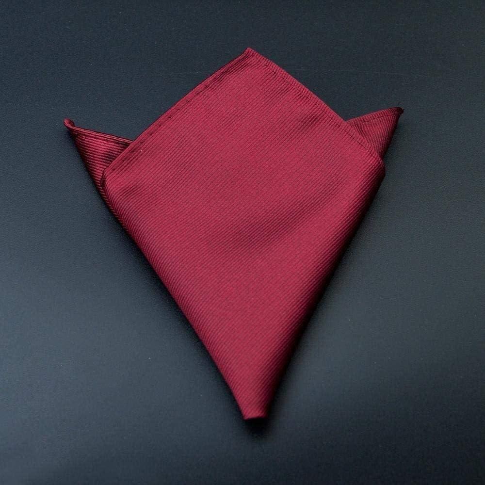 WYKDL Pocket Squares for Men Handkerchief Hanky Pocket Scarf Men's Suit Handkerchief red Wide Groom get Married