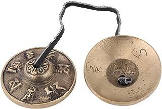 Finger Cymbals,Buddhism Handmade Brass Finger Cymbals Bells Religious Buddhist Musical Apparatus
