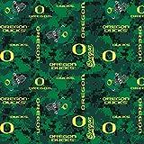 Oregon Ducks Fleece Blanket Fabric-University of Oregon Fleece Fabric-Camouflage Design
