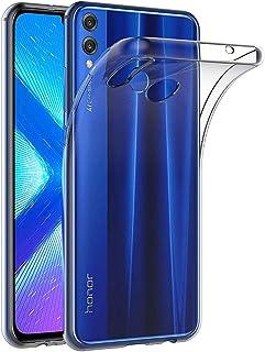 Carcasa m/óvil de Silicona kwmobile Funda Compatible con Huawei Honor 8X Protector Trasero en petr/óleo Metalizado