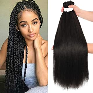 Pre-stretched Braiding Hair Extensions Easy Braid Hair Hot Water Setting Synthetic Fiber Corchet Braids Yaki Texture Hair ...
