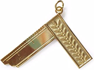 Masonic Craft Lodge Officer Wor Master Collar Jewel Gold