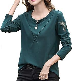 [ジェームズ・スクエア] カットソー 長袖 パイピング デザイン Tシャツ 4カラー S~3XL レディース
