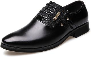 Oxfords clásicos para Hombre Zapatos de Oxford de los Hombres, Negocio de Costuras de Cuero Mate y Lienzo, Zapatos de Forr...